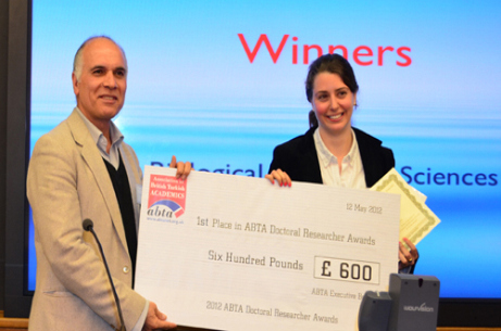 Scholar scoops ABTA award