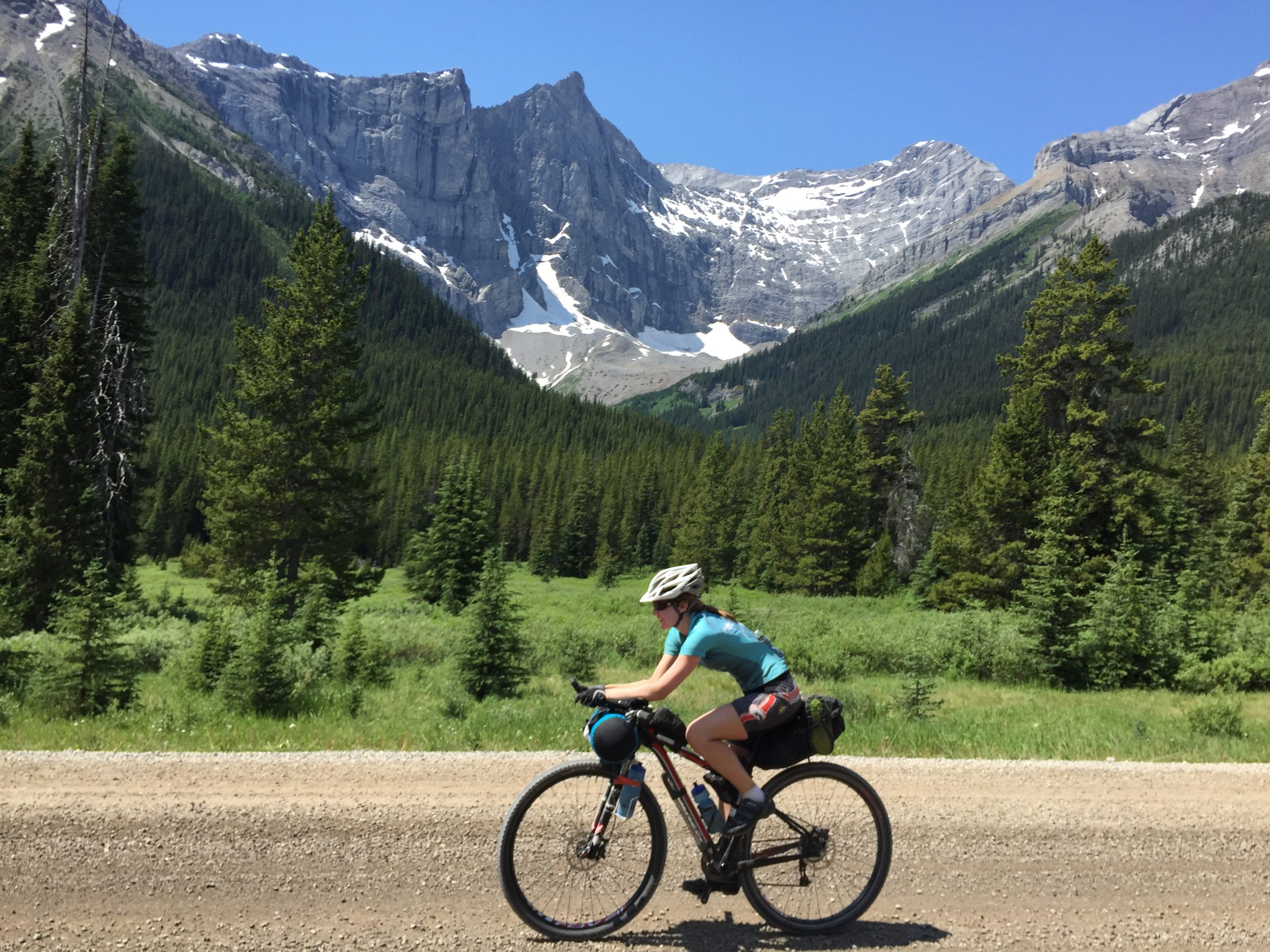 Riding through the Rockies