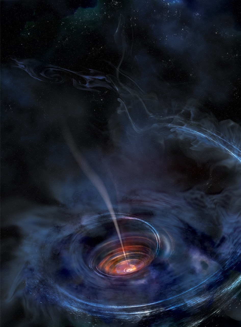 Study reports black hole tearing apart nearby star