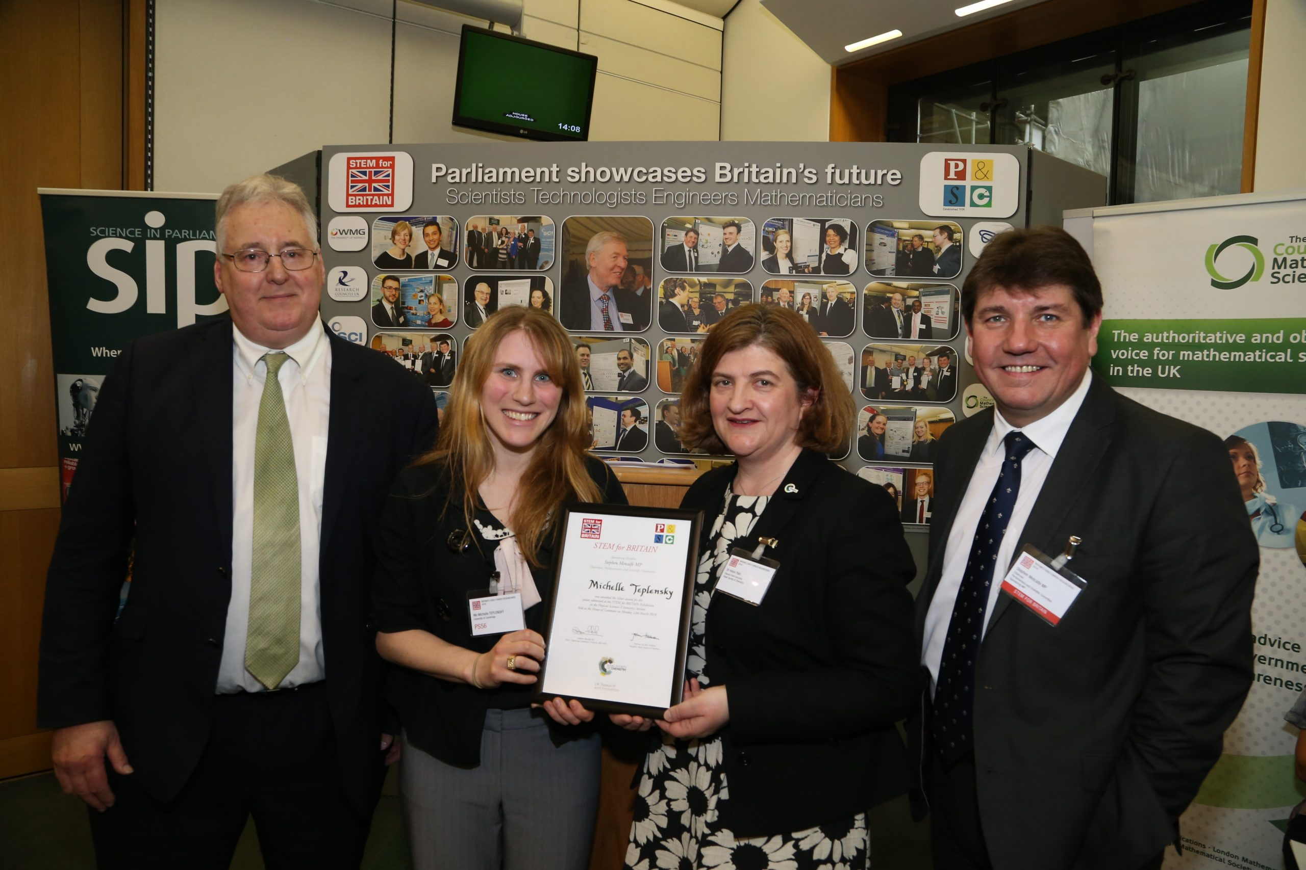 Scholar wins Chemistry prize at British Parliament