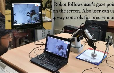Success for robotic arm controlled by eye gaze